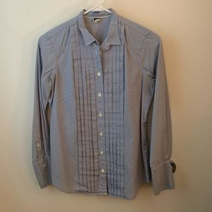 J. Crew pleated front, button down